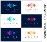 symbol pulse logo design. music ...   Shutterstock .eps vector #1713320404