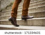 walking upstairs  close up view ... | Shutterstock . vector #171334631