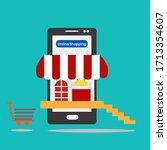 image vector.online shopping... | Shutterstock .eps vector #1713354607