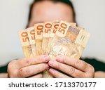 Real Currency. Brasil  Dinheir...