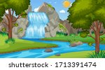 background scene with many... | Shutterstock .eps vector #1713391474