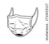 illustration of medical mask in ... | Shutterstock . vector #1713415117