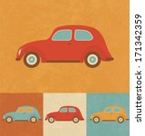 retro icons   toy car | Shutterstock .eps vector #171342359