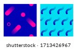 seamless background set with... | Shutterstock .eps vector #1713426967