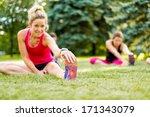 portait of a blond girl getting ... | Shutterstock . vector #171343079