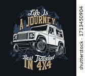 life is a journey best traveled ... | Shutterstock .eps vector #1713450904