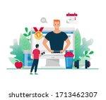 vector flat online personal... | Shutterstock .eps vector #1713462307
