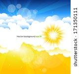sun background | Shutterstock .eps vector #171350111