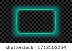 neon rectangle lamp wall sign... | Shutterstock .eps vector #1713503254