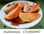 A Plate Of Fresh Sapodilla...