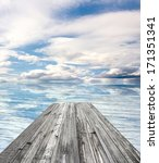 wooden pier on sunny day with... | Shutterstock . vector #171351341