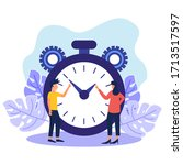 vector illustration  stopwatch... | Shutterstock .eps vector #1713517597