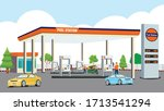 petrol pump for fuel the car... | Shutterstock .eps vector #1713541294