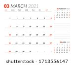 Calendar Page For March 2021....