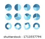 pie chart set.    blue diagram...   Shutterstock .eps vector #1713557794