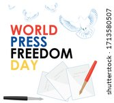 world press freedom day.... | Shutterstock .eps vector #1713580507