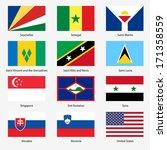 set  flags of world sovereign... | Shutterstock .eps vector #171358559