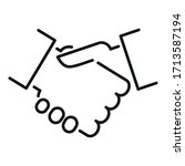 handshake icon. outline...