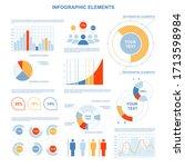infographics on a white...   Shutterstock .eps vector #1713598984