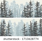 set of banners view from... | Shutterstock .eps vector #1713628774