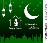 ramadan kareem background with... | Shutterstock .eps vector #1713644341