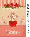 valentine's day card vector... | Shutterstock .eps vector #171365339