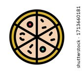 pizza vector flat color icon