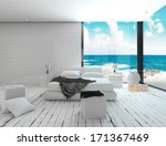 white bedroom interior in a... | Shutterstock . vector #171367469