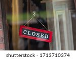 sorry we are closed sign... | Shutterstock . vector #1713710374