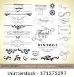 calligraphic design elements... | Shutterstock . vector #171373397
