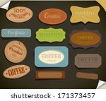set of retro vintage labels. | Shutterstock . vector #171373457