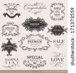 calligraphic design elements... | Shutterstock . vector #171373559