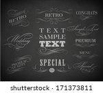 chalk  typography  calligraphic ... | Shutterstock . vector #171373811