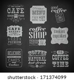 retro bakery labels and... | Shutterstock . vector #171374099