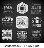 retro bakery label  coffee shop ... | Shutterstock . vector #171374105