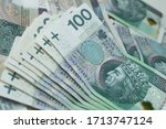 close up od polish currency ... | Shutterstock . vector #1713747124