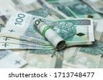 polish currency  paper money... | Shutterstock . vector #1713748477