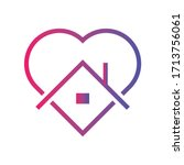 stay at home icon   logo  ... | Shutterstock .eps vector #1713756061