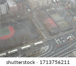 looking down at new york city... | Shutterstock . vector #1713756211