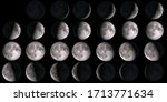 Moon Calendar. Set Of Moon...