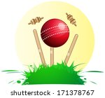 cricket wickets and ball  ... | Shutterstock .eps vector #171378767