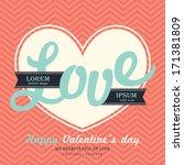 valentines day invitation card...   Shutterstock .eps vector #171381809