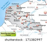 map of north pas de calais as... | Shutterstock . vector #171382997
