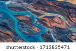 Aerial View And Top View River...