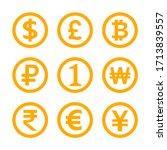 money symbol set isolated on...   Shutterstock .eps vector #1713839557