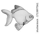 Gold Fish Polygonal Lines...