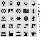 map and navigation icons | Shutterstock .eps vector #171391511