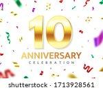 10th anniversary celebration.... | Shutterstock .eps vector #1713928561