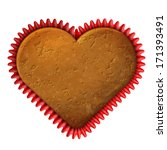 Heart Cupcake In Baking Cup....