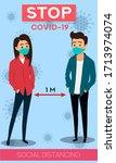 social distancing. stop...   Shutterstock .eps vector #1713974074